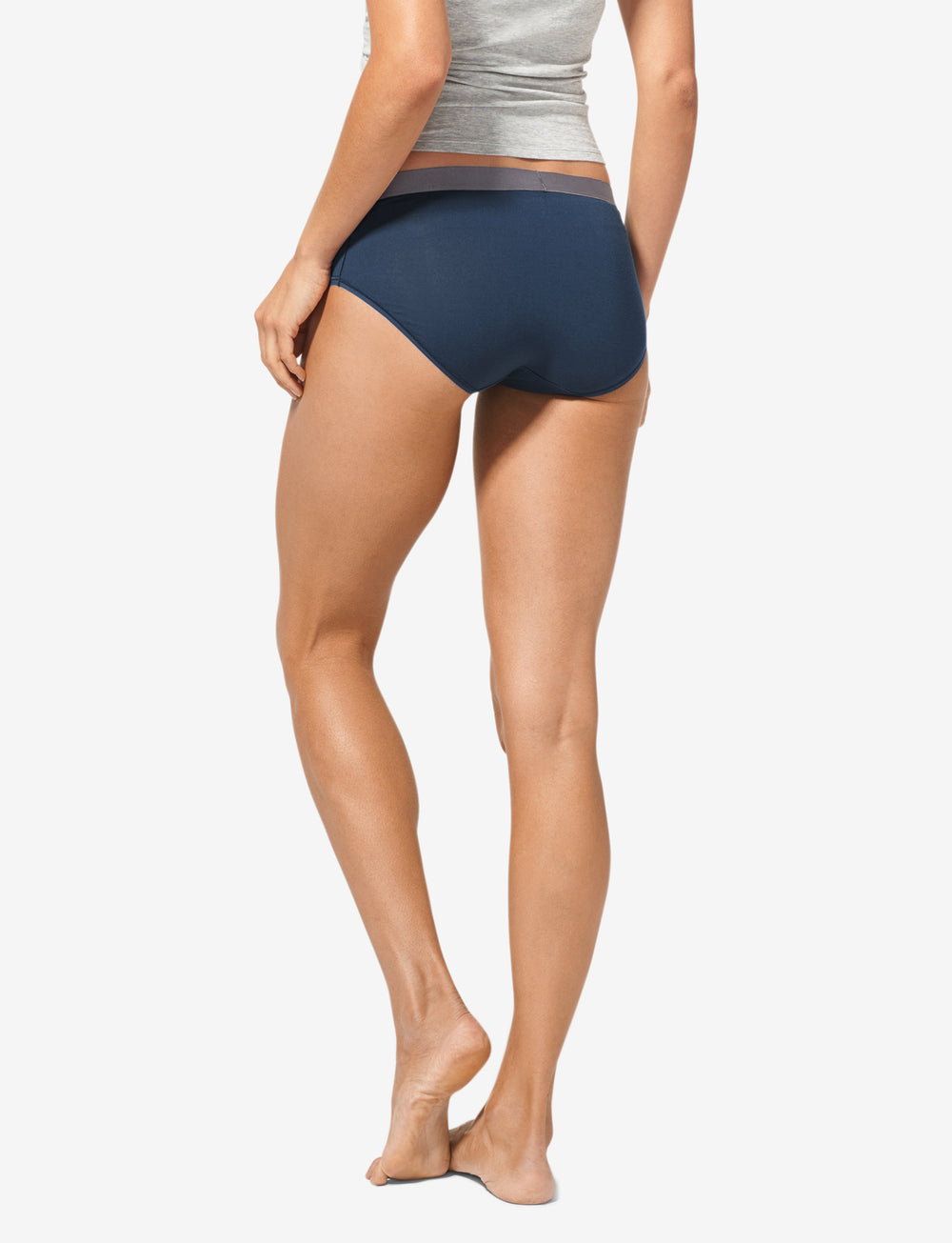 Women's Second Skin Titanium Waistband Brief Details Image