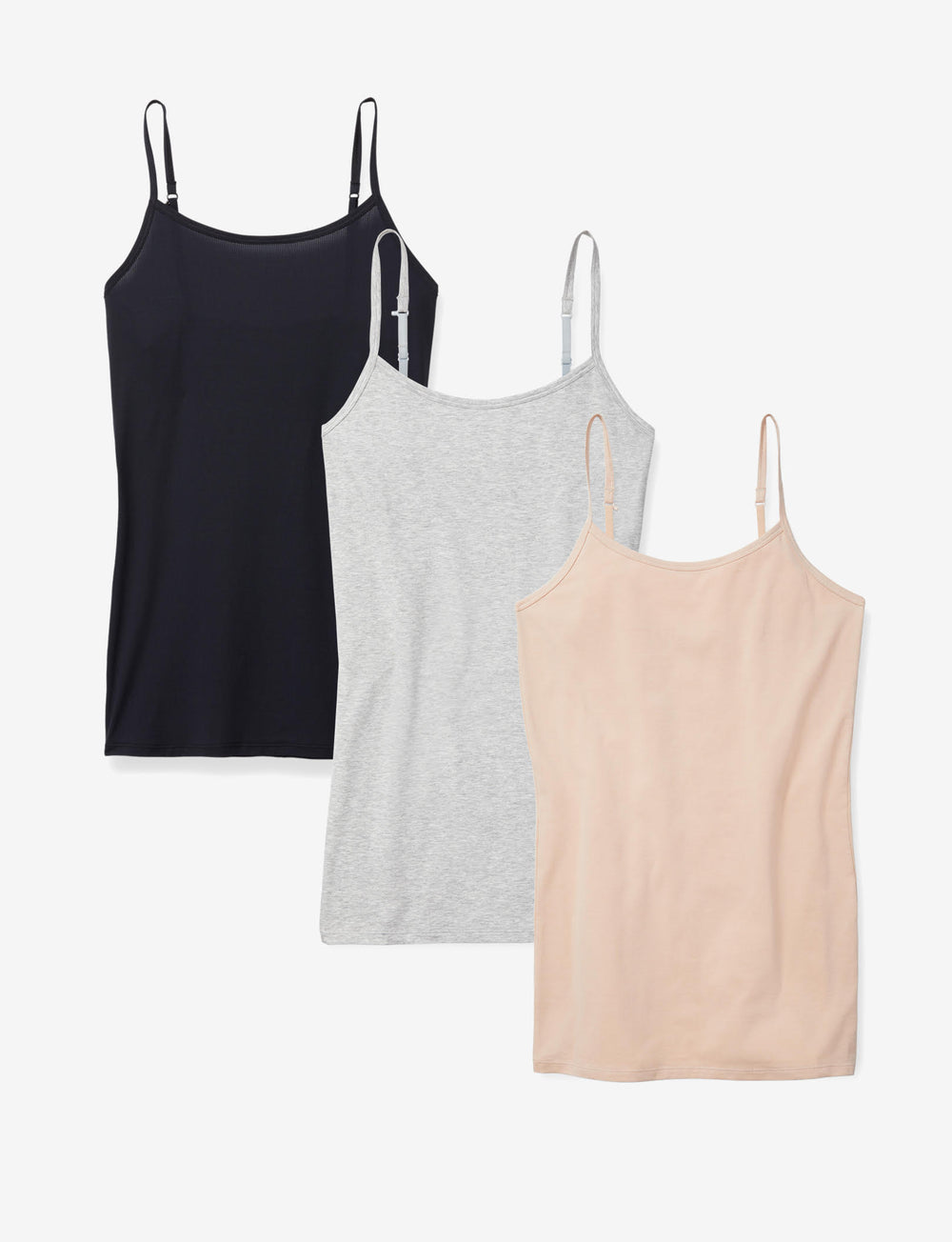 Women's Cool Cotton Stay-Tucked Camisole 3 Pack Details Image