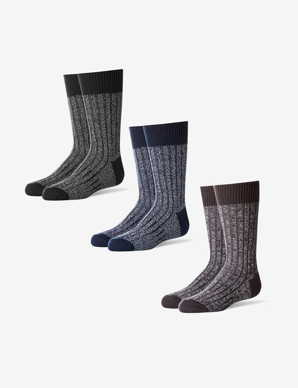 Youth Casual Sock 3 Pack Details Image