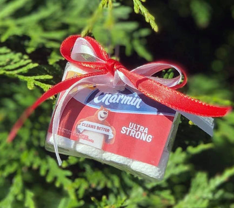 Toilet Paper/Clorox Ornament {Because 2020}