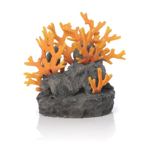 biOrb Lava Rock with Fire Coral Aquarium Sculpture
