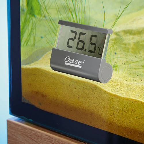 OASE Digital Thermometer in use