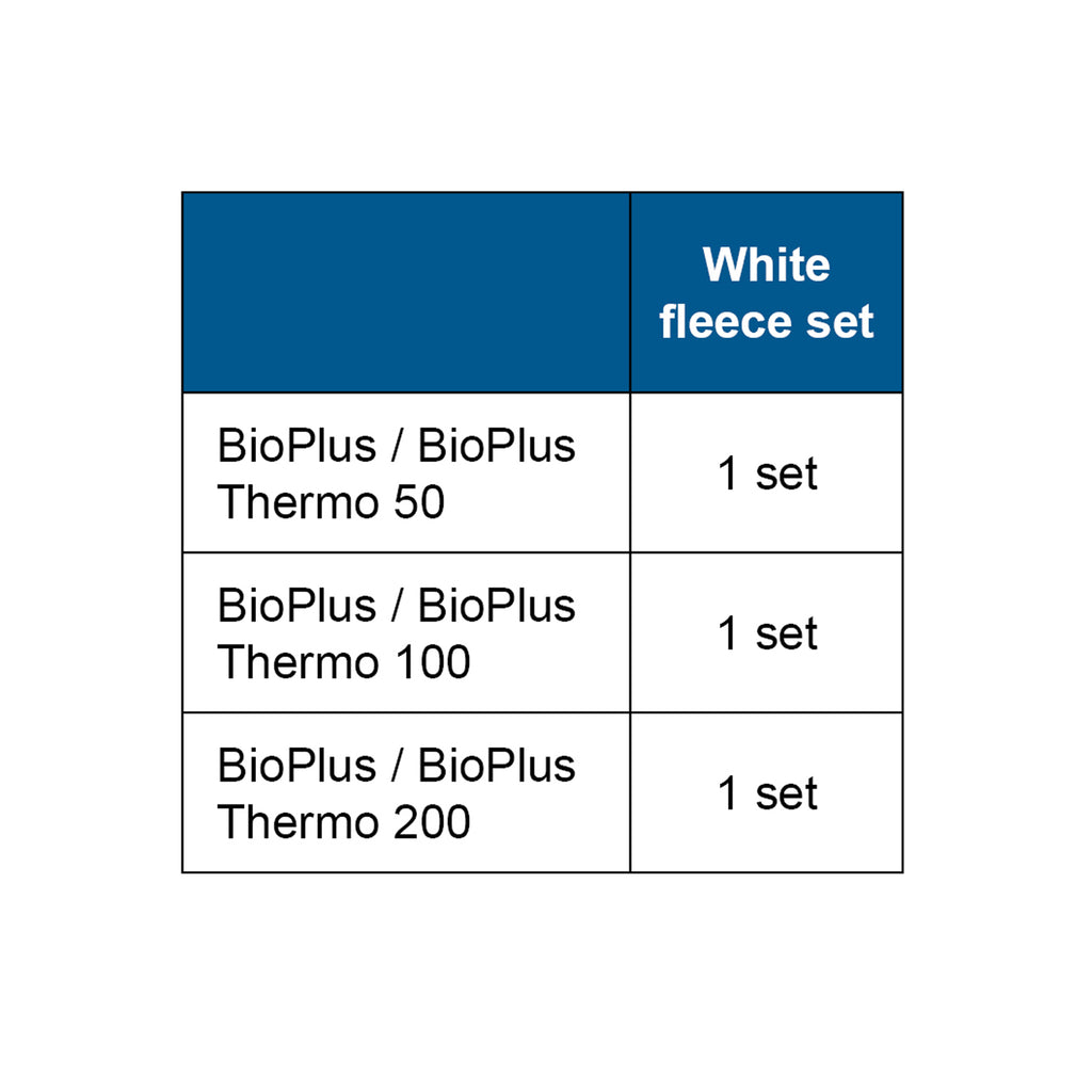 OASE 2 Filter Fleeces for the BioPlus replacement chart