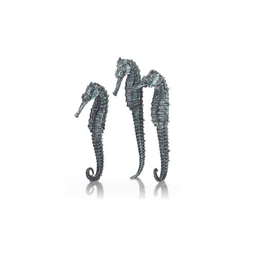 biOrb Seahorse Set of 3 metallic black