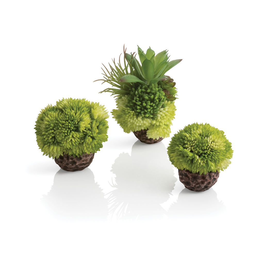 biOrb Seychelles Coral Ball Set of 3 green