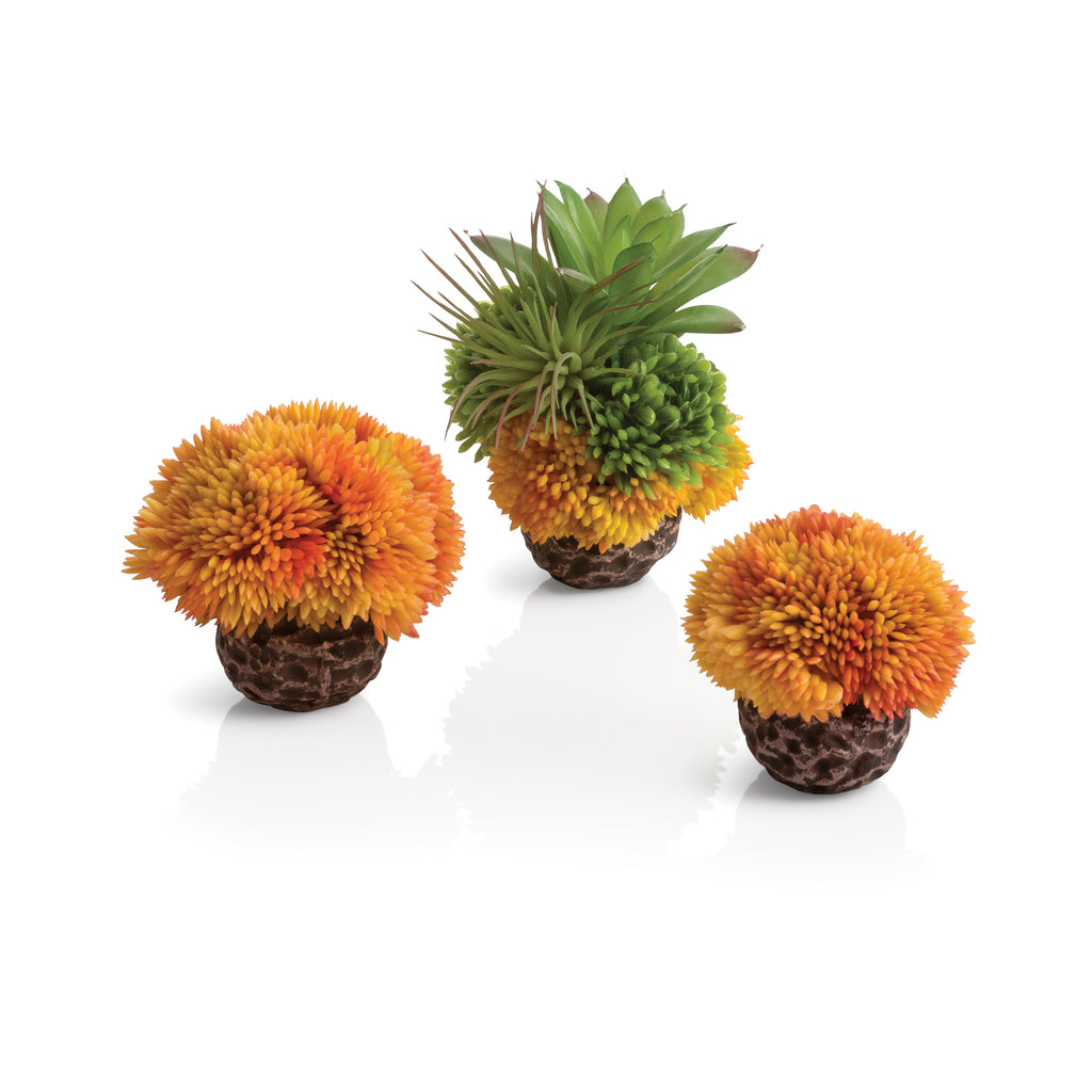 biOrb Seychelles Coral Ball Set of 3 orange