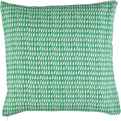 Green Droplet 40 x 40cm Cushion Cover