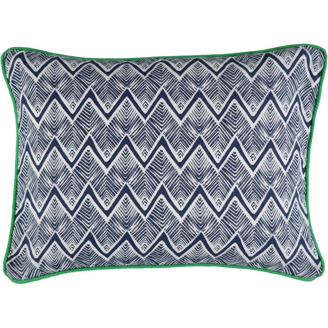 Zig Zag Navy 30 x 40cm Cushion Cover