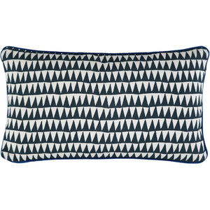 Navy Triangles Cushion Cover 30 x 50cm