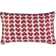 Red Chevrons 30x50cm Cushion Cover