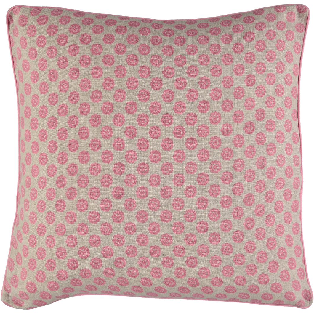 Pink Clover Cushion Cover 50 x 50cm - Pre Order Only