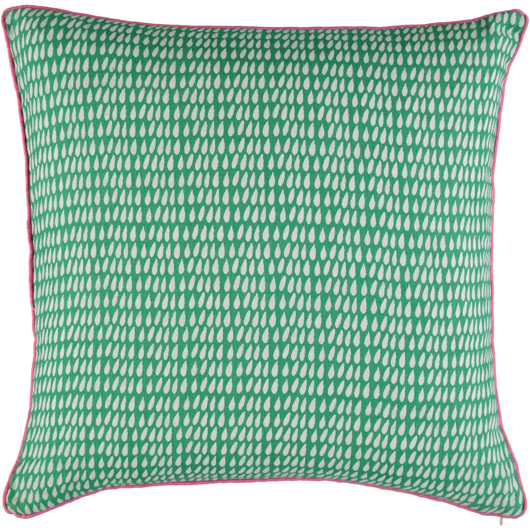 Green Droplet 50 x 50cm Cushion Cover