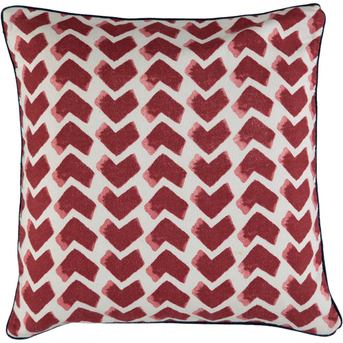Red Chevrons 40x40cm Cushion Covers