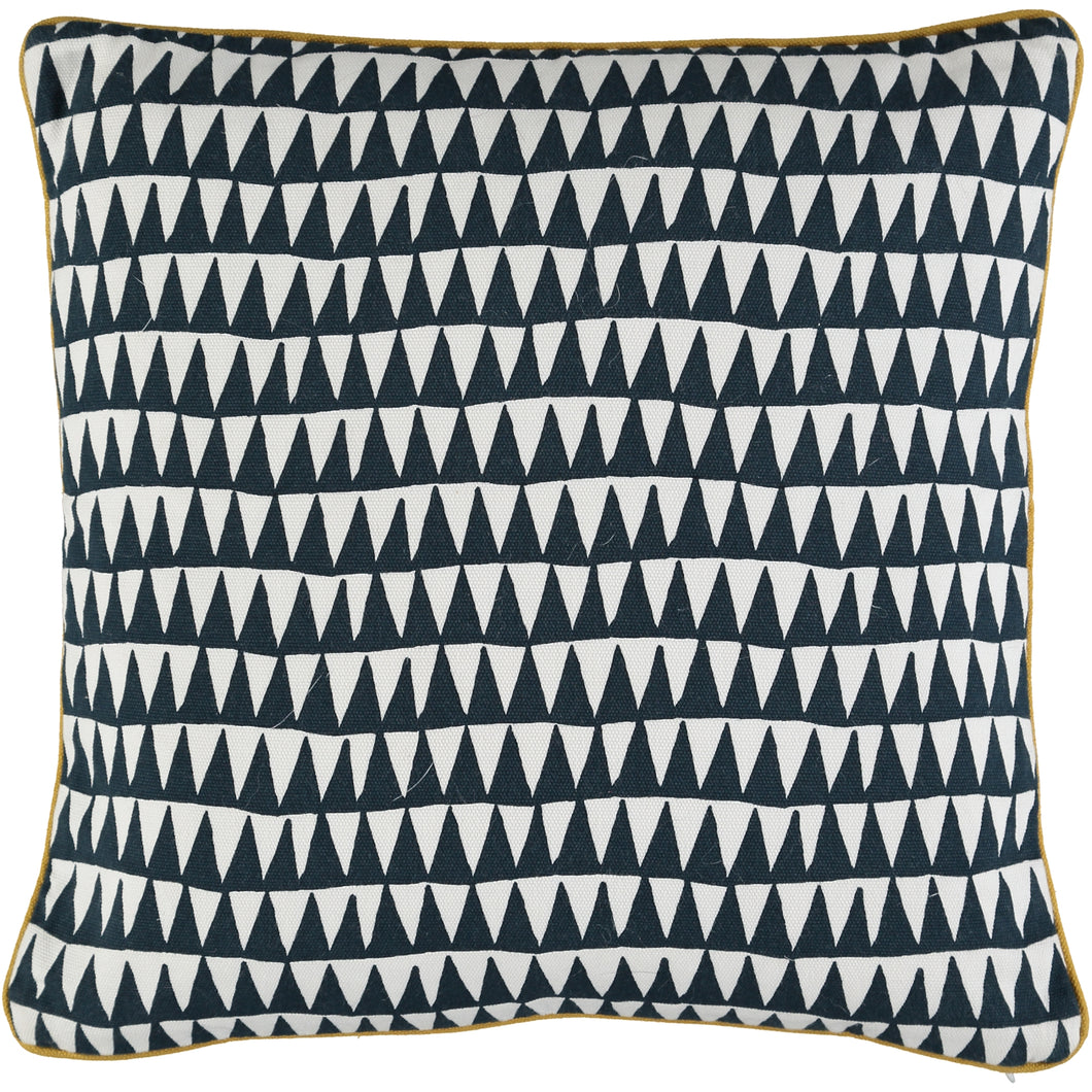 Navy Triangles Cushion Cover 40 x 40cm