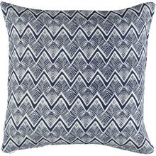 Zig Zag Navy 40 x 40cm Cushion Cover