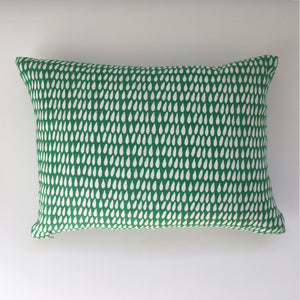 Green Droplet 30 x 40cm Cushion Cover