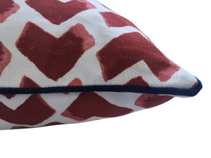 Kitty Holmes chevron cushion cover
