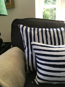 Kitty Holmes striped cushion cover