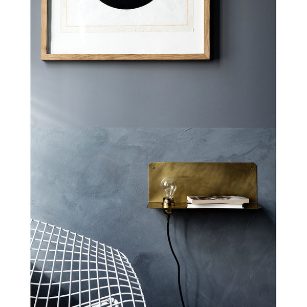 90° Wall Light, Brass