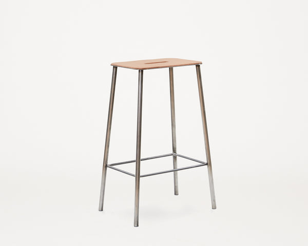 Adam Stool H65 Raw/Leather