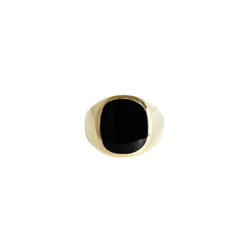 Ring «Black Oval Resin», Large