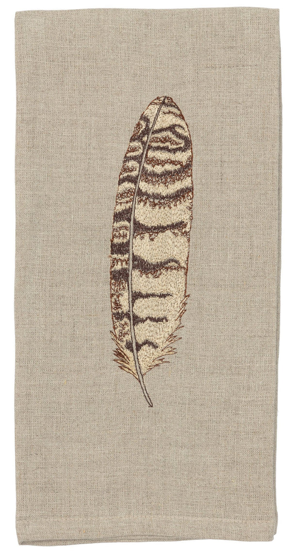 Horned Owl Tea Towel
