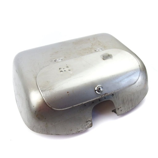 Vespa - Tool Box and Lid Assembly - GS Style For PX - Bare Metal