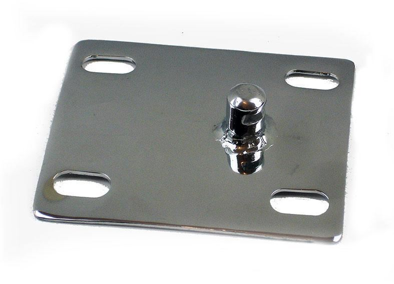 Lambretta Series 1 2 3 Seat Pillar Latch Catch - For Seats With Side Lever- Polished Stainless Steel