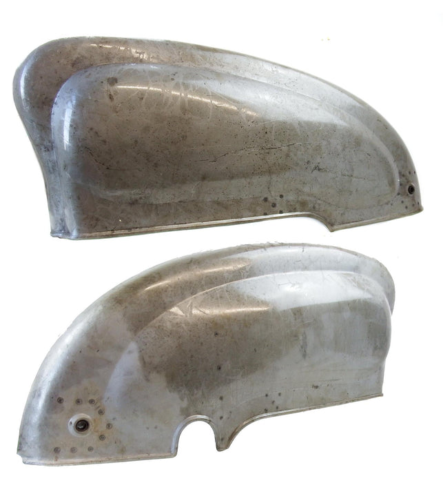 Lambretta - Side Panels - Li Series 2 -Bare Metal With Handle Holes - Pair