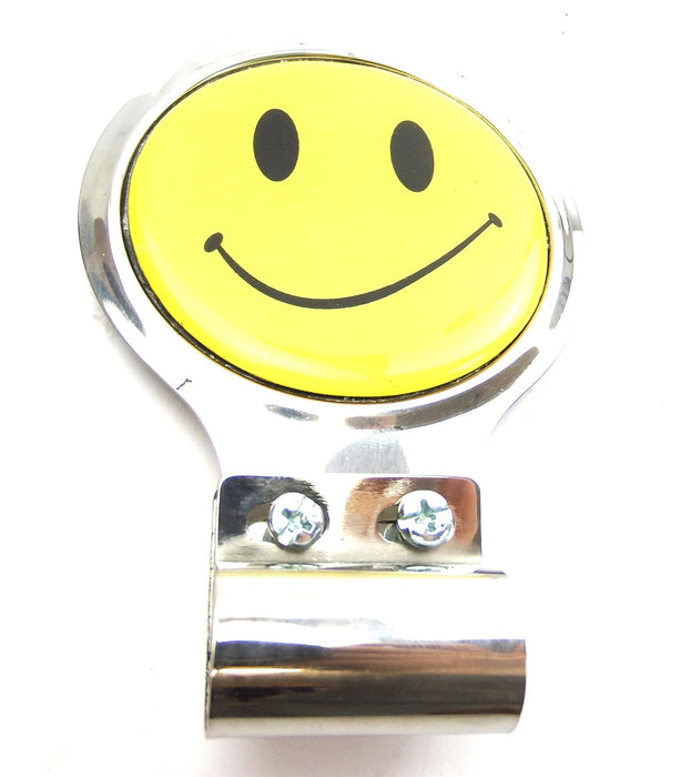 Bar Badge/Plaque - Smiley Face - Stainless Steel