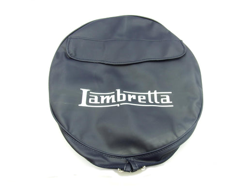 "Wheel - Spare Wheel Cover 10"" - Lambretta Logo And Pouch - Made To Order"