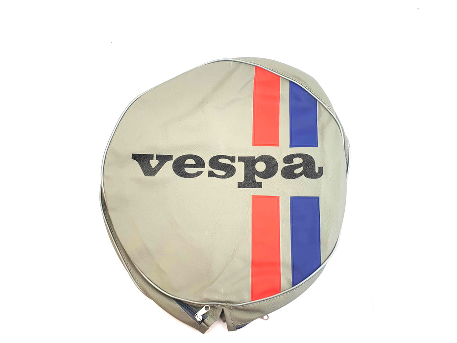 Wheel - Spare Wheel Cover 10 - Vespa Logo And Stripes - Made To Order