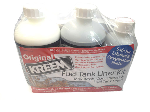 Kreem Petrol Tank Wash, Conditioner & Liner Pack