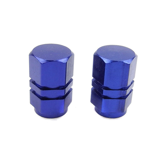 Valve Cap Blue Hex