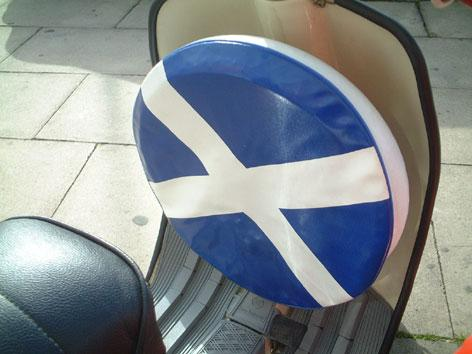 "Spare Wheel Cover 10"" Saint Andrews Cross - Beedspeed, Scooter Parts & Accessories For Lambretta, Vespa & More"