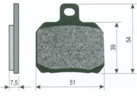 Brake Pads 22 510 0490 - Beedspeed, Scooter Parts & Accessories For Lambretta, Vespa & More