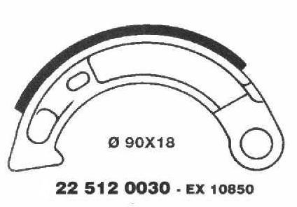 Brake Shoes 22 512 0030 - Beedspeed, Scooter Parts & Accessories For Lambretta, Vespa & More
