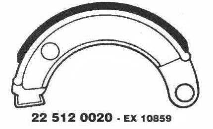Brake Shoes 22 512 0020 - Beedspeed, Scooter Parts & Accessories For Lambretta, Vespa & More