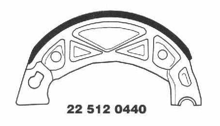 Brake Shoes 22 512 0440 - Beedspeed, Scooter Parts & Accessories For Lambretta, Vespa & More
