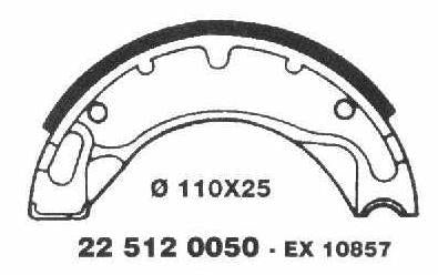 Brake Shoes 22 512 0050 - Beedspeed, Scooter Parts & Accessories For Lambretta, Vespa & More