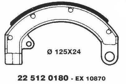 Brake Shoes 22 512 0180 - Beedspeed