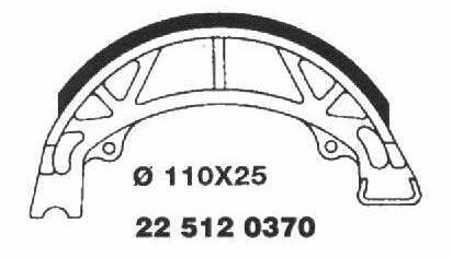 Brake Shoes 22 512 0370 - Beedspeed, Scooter Parts & Accessories For Lambretta, Vespa & More