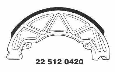 Brake Shoes 22 512 0420 - Beedspeed, Scooter Parts & Accessories For Lambretta, Vespa & More