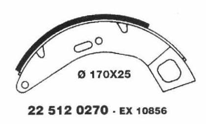 Brake Shoes 22 512 0510 - Vespa Front - Cosa