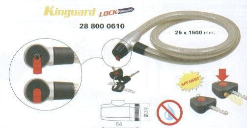 Lock - Cable Lock - Kinguard - 150cm x 25mm