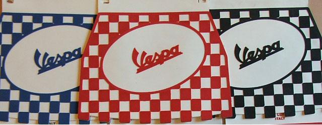 Mudflap - Chequered - Vespa - Red - Pressed