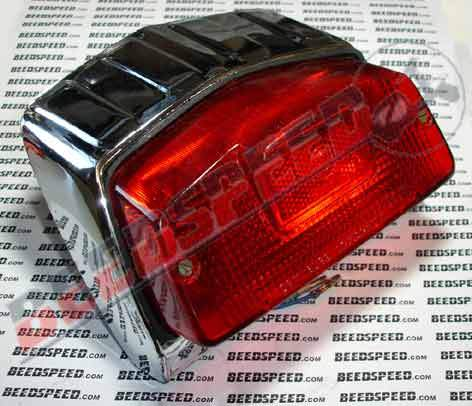 Lambretta - Lamp - Rear Light Unit - GP - Chrome on Plastic