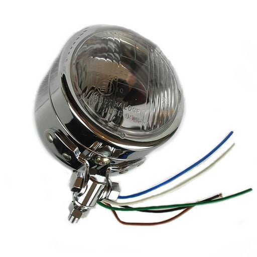 Lamp - Headlight 10.9cm Round Chrome - Dominator