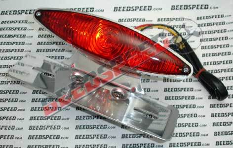 Lamp - Rear Light Single Elliptical - Wide - Includes Bracket