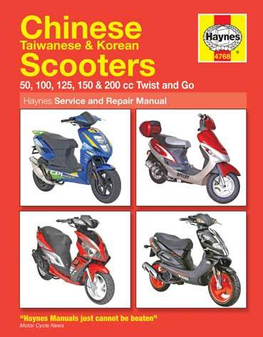 Manual - Haynes Chinese, Taiwanese & Korean Scooters